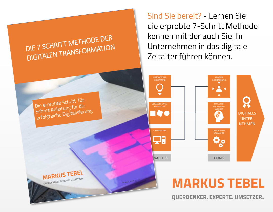 Die 7 Schritt-Methode der digitalen Transformation